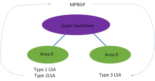 LSA across superbackbone