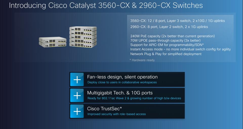 Catalyst 3560-CX | Daniels networking blog